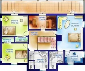 План этажа каркасный дом